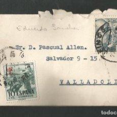 Sellos: SOBRE CIRCULADA VALLADOLID A REINOSA - SANTANDER. Lote 209893407