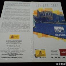 Sellos: INFORMACION FILATELICA DE CORREOS PALMA DE MALLORCA EXFILNA 2007. Lote 210696237