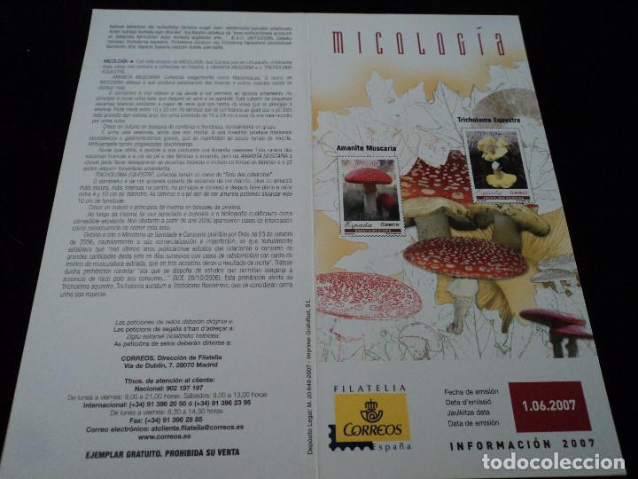 INFORMACION FILATELICA DE CORREOS MICOLOGIA 2007 (Sellos - Material Filatélico - Otros)