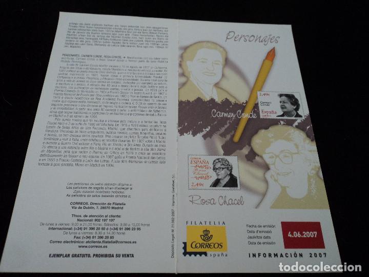 INFORMACION FILATELICA DE CORREOS CARMEN CONDE 2007 (Sellos - Material Filatélico - Otros)