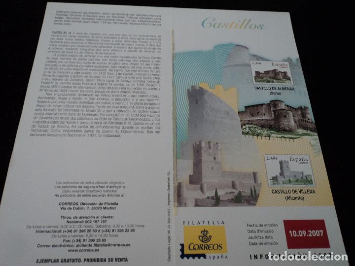 INFORMACION FILATELICA DE CORREOS CASTILLO DE VILLENA 2007 (Sellos - Material Filatélico - Otros)