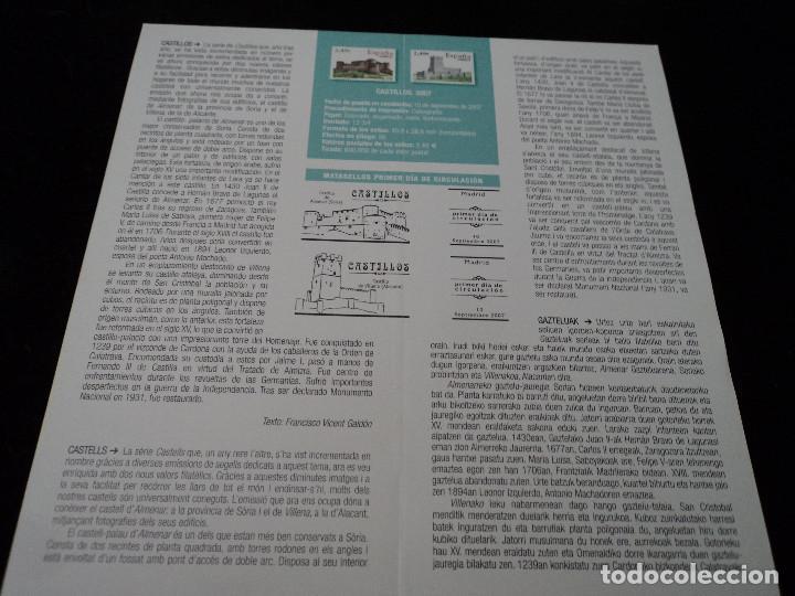 Sellos: INFORMACION FILATELICA DE CORREOS CASTILLO DE VILLENA 2007 - Foto 2 - 210697221