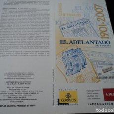 Sellos: INFORMACION FILATELICA DE CORREOS CENTENARIO DE EL ADELANTADO 2007. Lote 210697375