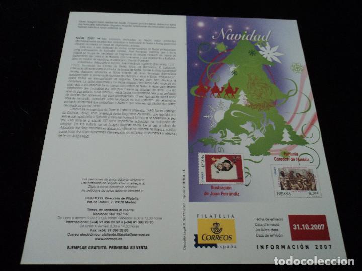 INFORMACION FILATELICA DE CORREOS NAVIDAD 2007 (Sellos - Material Filatélico - Otros)