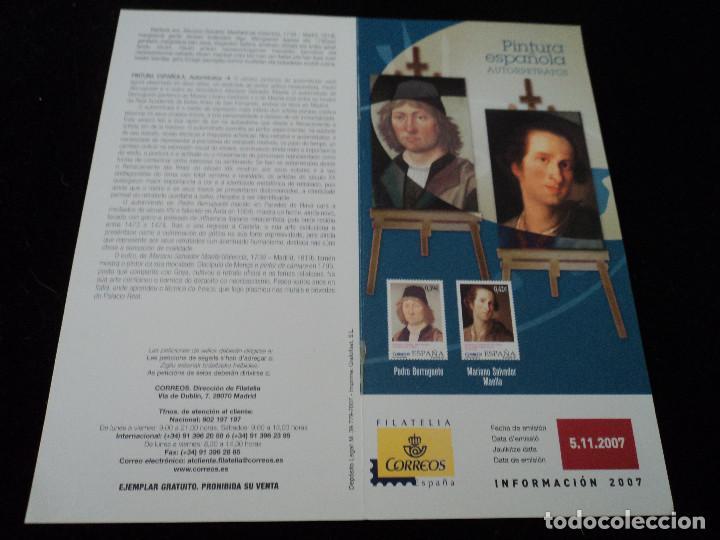 INFORMACION FILATELICA DE CORREOS PINTURA ESPAÑOLA 2007 (Sellos - Material Filatélico - Otros)
