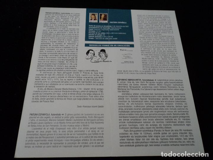 Sellos: INFORMACION FILATELICA DE CORREOS PINTURA ESPAÑOLA 2007 - Foto 2 - 210697496