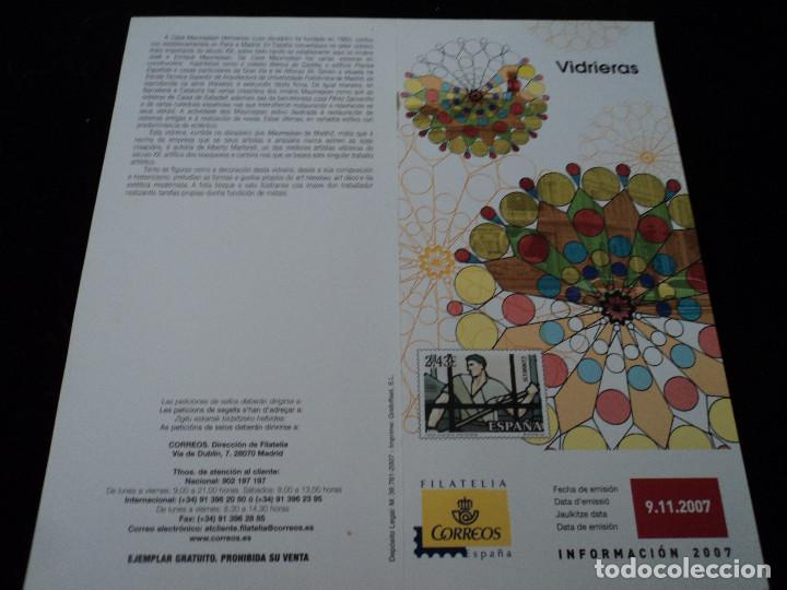 INFORMACION FILATELICA DE CORREOS VIDRIERAS 2007 (Sellos - Material Filatélico - Otros)