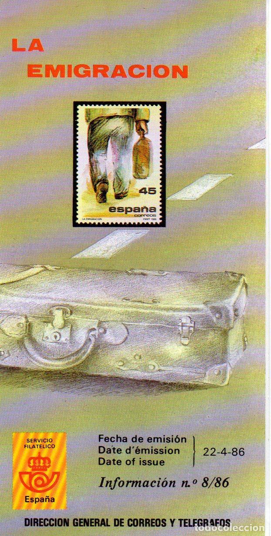 ESPAÑA.- FOLLETO DE INFORMACIÓN FILATÉLICA AÑO 1986, EN NUEVO (Sellos - Material Filatélico - Otros)