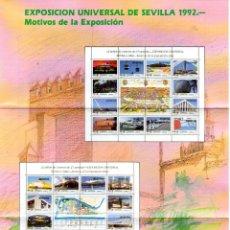 Sellos: ESPAÑA.- FOLLETO DE INFORMACIÓN FILATÉLICA AÑO 1992, EN NUEVO. Lote 219383356