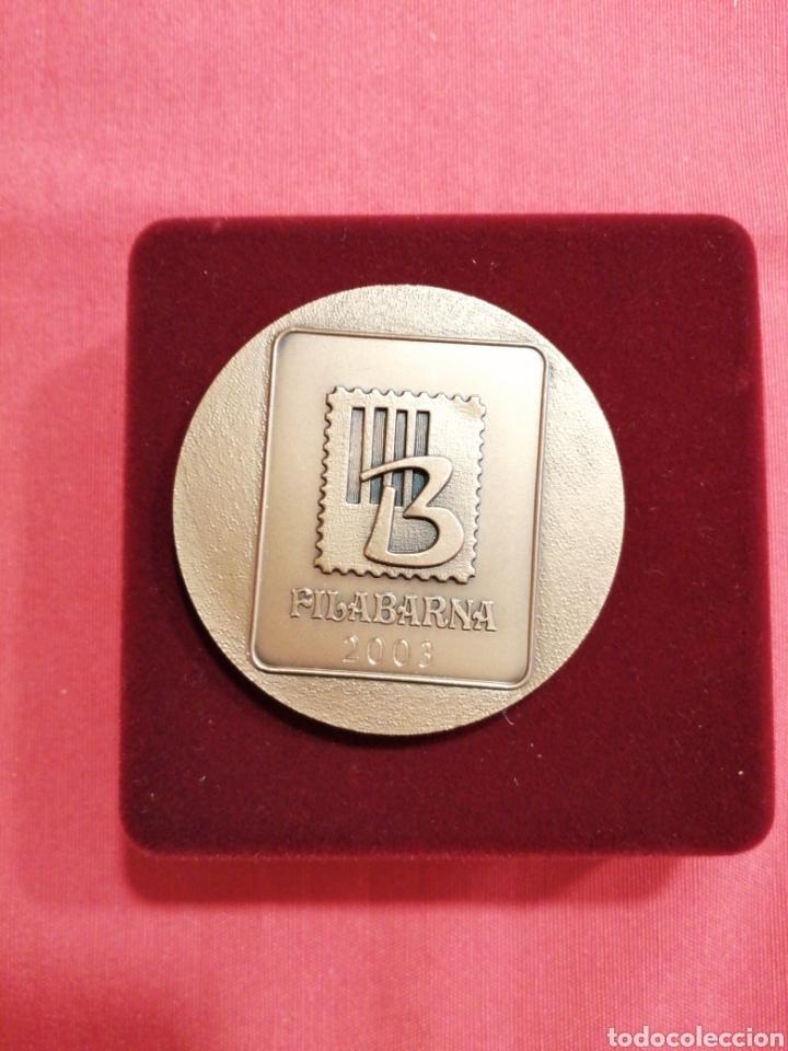 Sellos: Medalla Federación sociedades filatélicas catalanas filabarna 2003 - Foto 2 - 219695112