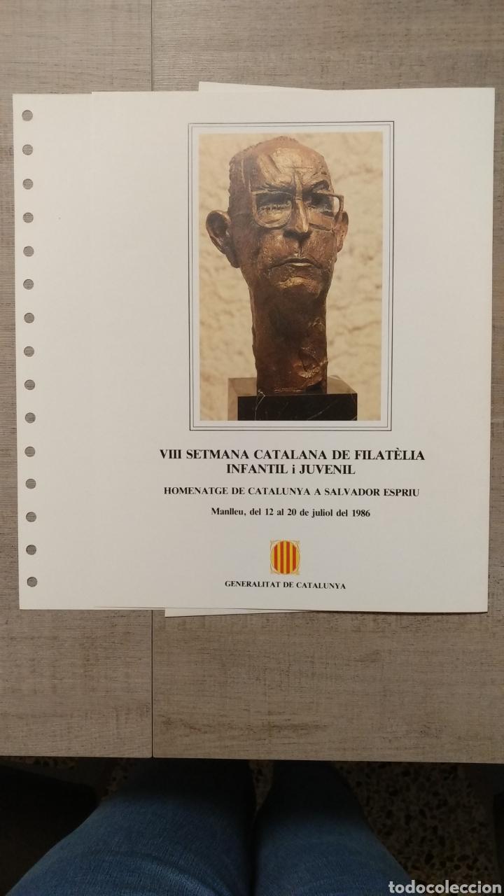 Sellos: DOCUMENTOS FILATÉLICOS GENERALITAT DE CATALUNYA - Foto 5 - 223607561