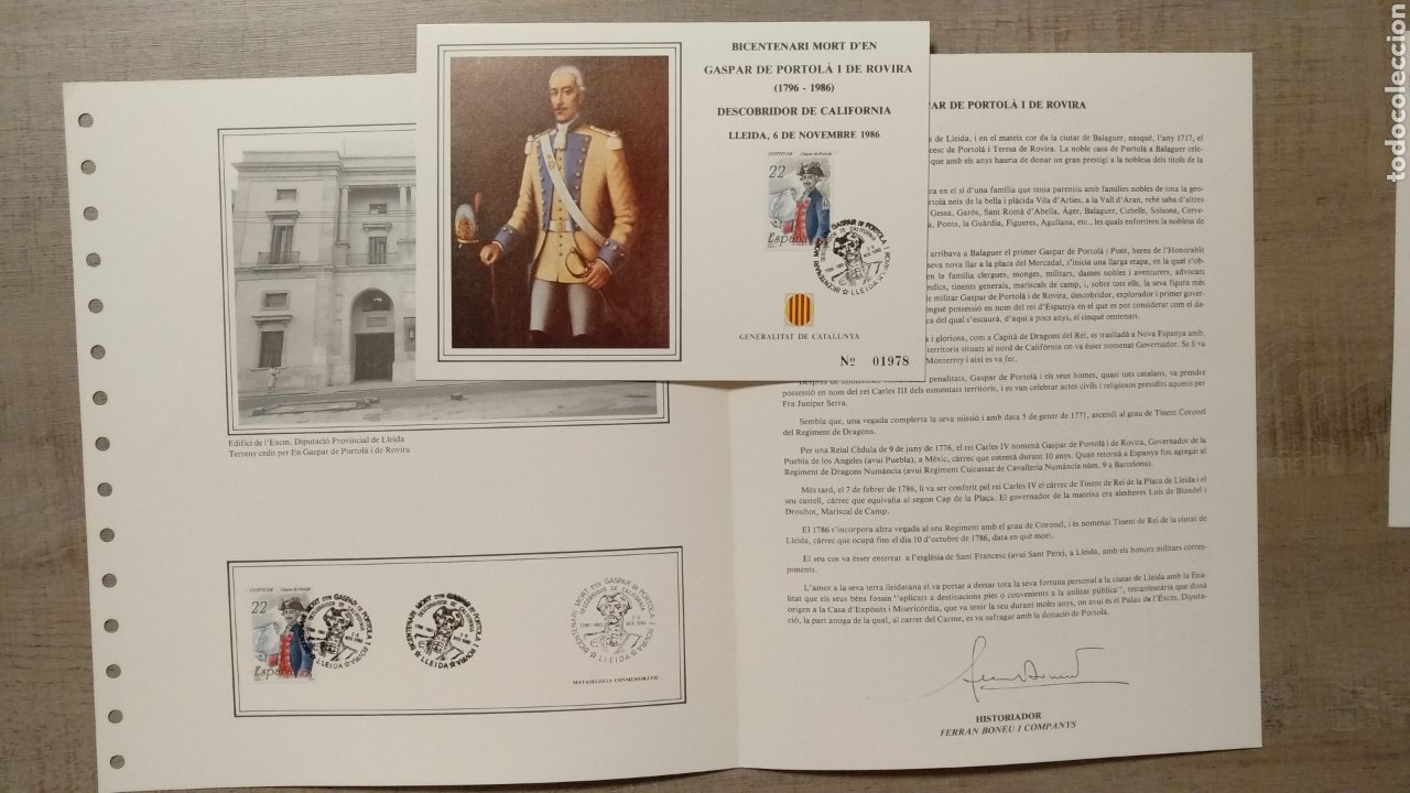 Sellos: DOCUMENTOS FILATÉLICOS GENERALITAT DE CATALUNYA - Foto 17 - 223607561