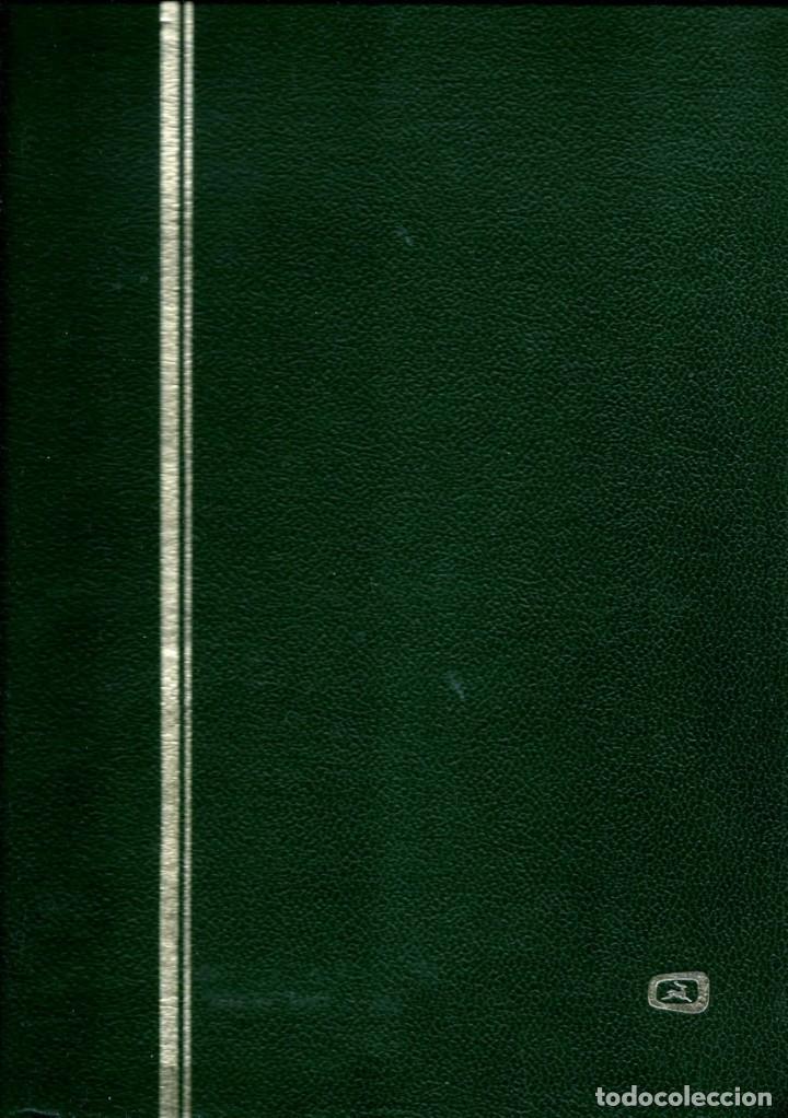 CLASIFICADOR (8 HOJAS/16 PAG BLANCAS CON HOJA TRANSPARENTE INTERCALADA) (9 BANDAS) (VERDE USADO (Sellos - Material Filatélico - Otros)