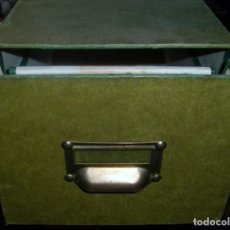Timbres: ARCHIVADOR DE CARTÓN FORRADO PARA TARJETAS POSTALES (ANCHO: 17,5) (ALTO: 14) (FONDO: 36 CM) USADO. Lote 224112628