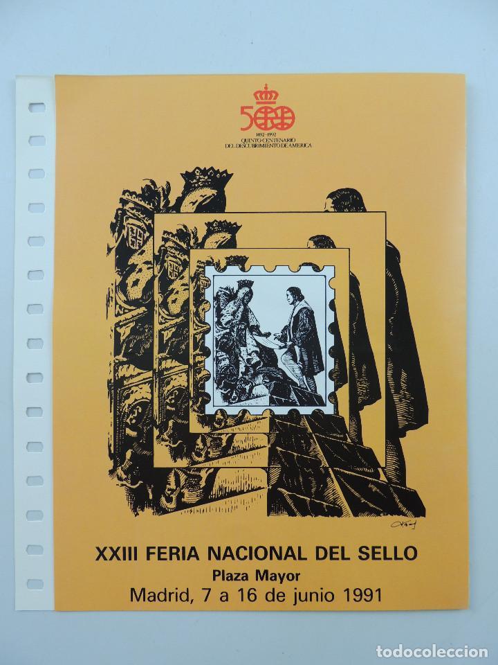 DOCUMENTO FILATELICO, XXIII FERIA NACIONAL DEL SELLO (Sellos - Material Filatélico - Otros)