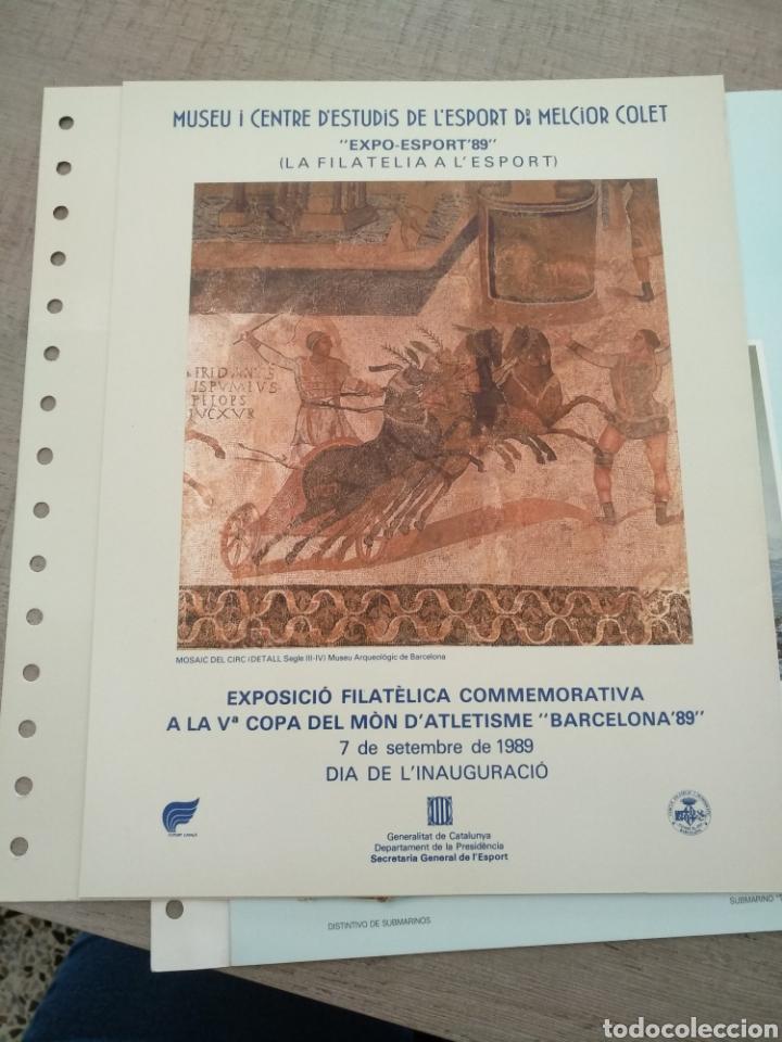 VªCOPA DEL MÒN D'ATLETISME. BARCELONA' 89 (Sellos - Material Filatélico - Otros)