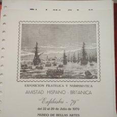 "Sellos: AMISTAD HISPANO-BRITÁNICA ""EXFIHISBRI-79"". TENERIFE.. Lote 226008537"