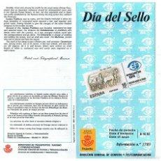 Sellos: FOLLETO EMISION SELLOS DIA DEL SELLO 1983 17/83 SERVICIO FILATELICO ESPAÑA CORREOS. Lote 227713880