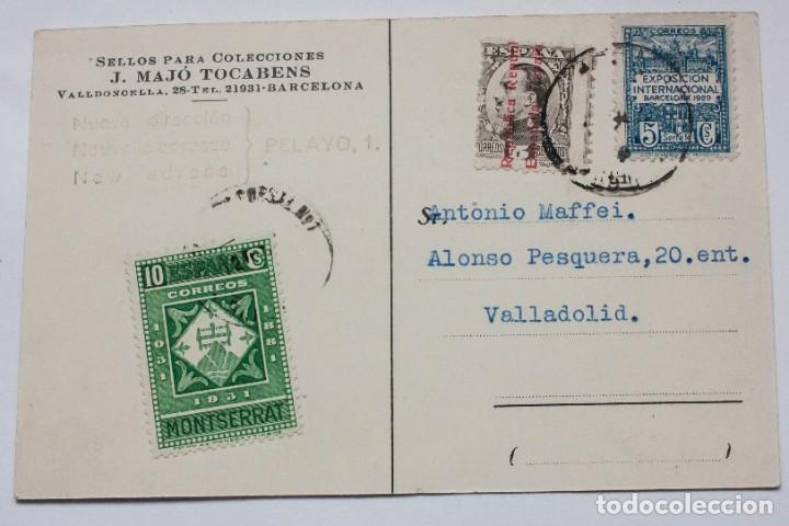 POSTAL CON FRANQUEO 1931 SELLO PARA COLECCIONES (Sellos - Material Filatélico - Otros)