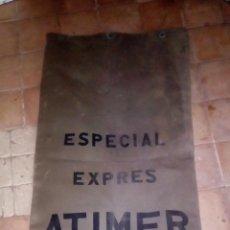 Sellos: SACA O SACO PETATE DE CORREOS ESPECIAL EXPRES ATIMER VERDE MILITAR. Lote 234013685