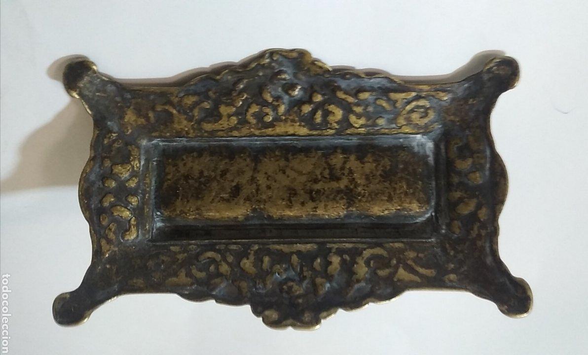 Sellos: Antigua caja de escribania para guardar sellos o tintero del siglo XVIII - Foto 5 - 240087540