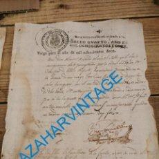 Sellos: HABILITADO JOSE NAPOLEON AÑO 1812 SELLO OFICIO DE 4 MARAVEDIS TIMBROLOGIA , INDEPENDENCIA. Lote 242485250