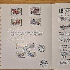 Selos: DOCUMENTOS FILATELICOS SALÓN INTERNACIONAL DEL AUTOMOVIL 1977 + REGALO. Lote 243663750