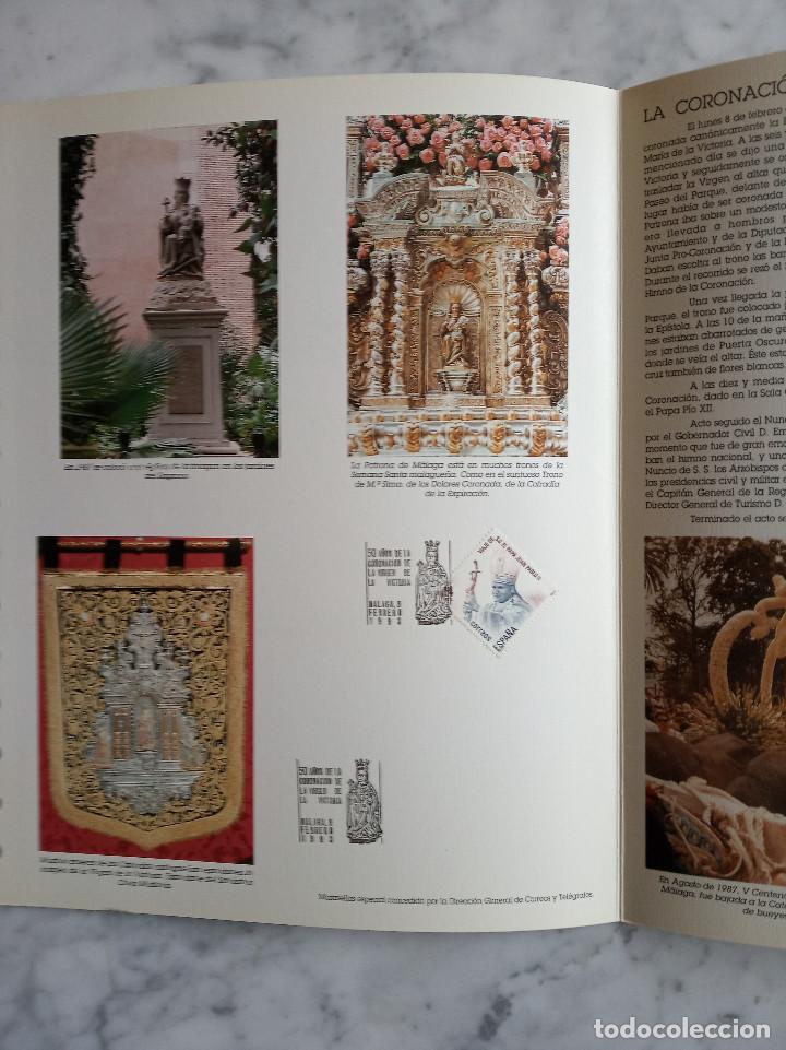 Sellos: 4 documentos filatelicos,malaga - Foto 2 - 244830560