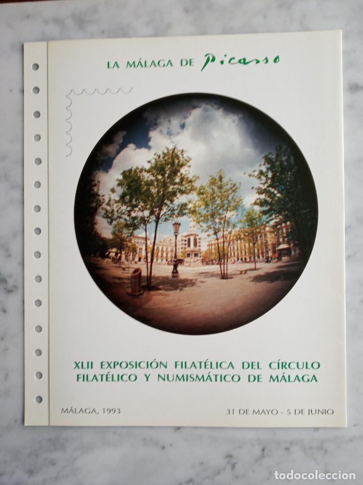 Sellos: 4 documentos filatelicos,malaga - Foto 5 - 244830560