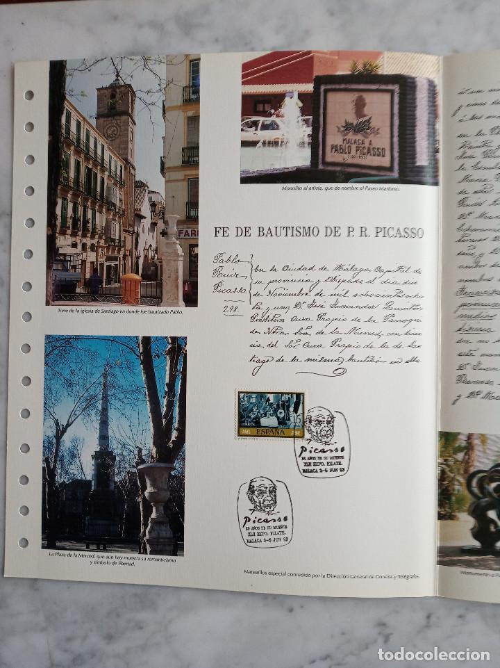Sellos: 4 documentos filatelicos,malaga - Foto 6 - 244830560