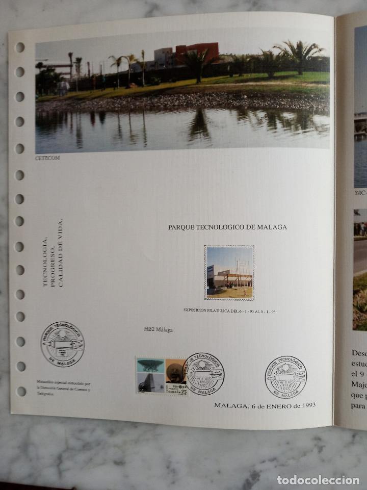 Sellos: 4 documentos filatelicos,malaga - Foto 8 - 244830560