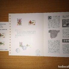 Sellos: DOCUMENTOS FILATELICOS XIV FERIA NACIONAL DEL SELLO 1981 MADRID + REGALO. Lote 245639765