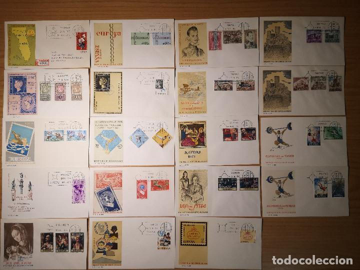 19 SOBRES PRIMER DIA DESDE 1966 A 1972 (Sellos - Material Filatélico - Otros)