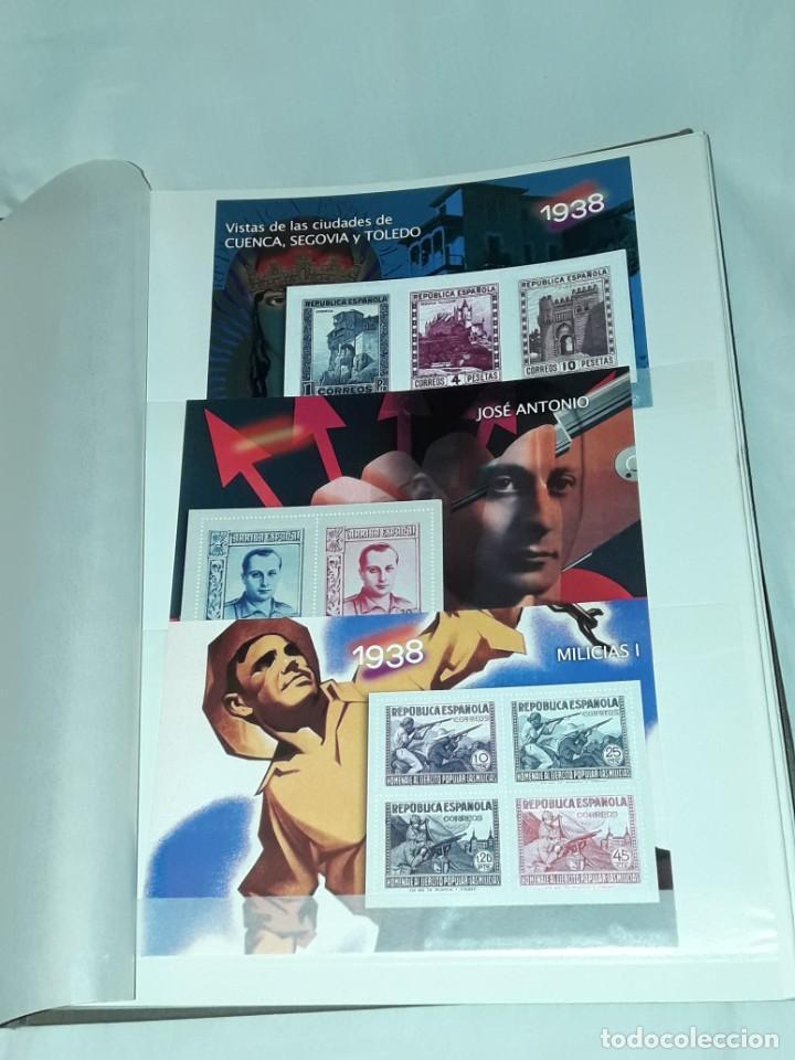 Sellos: Colección La Guerra Civil en Sellos de Correos Ed. El Mundo 51 hojas bloques - Foto 2 - 246193725
