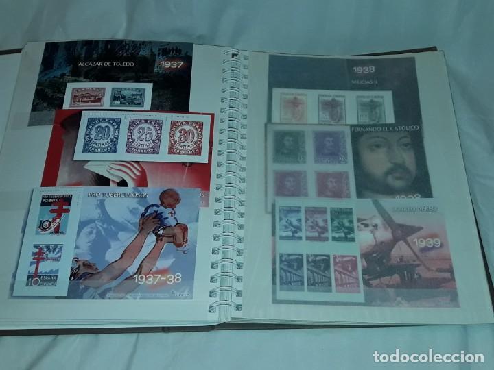 Sellos: Colección La Guerra Civil en Sellos de Correos Ed. El Mundo 51 hojas bloques - Foto 4 - 246193725
