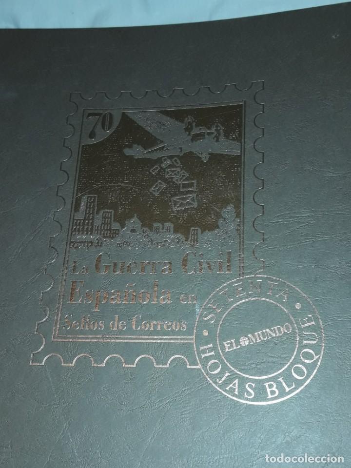 Sellos: Colección La Guerra Civil en Sellos de Correos Ed. El Mundo 51 hojas bloques - Foto 5 - 246193725