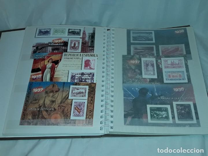 Sellos: Colección La Guerra Civil en Sellos de Correos Ed. El Mundo 51 hojas bloques - Foto 10 - 246193725