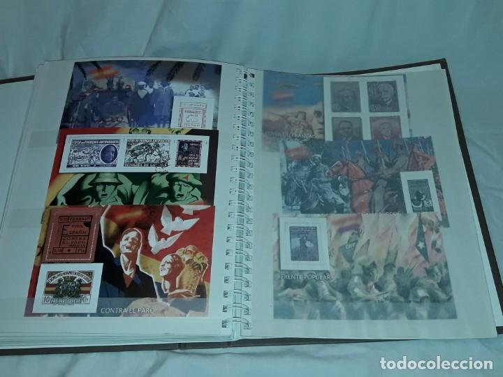 Sellos: Colección La Guerra Civil en Sellos de Correos Ed. El Mundo 51 hojas bloques - Foto 14 - 246193725