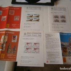 Sellos: HOJAS INFORMATIVAS SERVICIO FILATÉLICO DE CORREOS - AÑOS 80. Lote 252113020