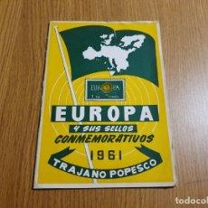 Sellos: EUROPA Y SUS SELLOS CONMEMORATIVOS - 1961 - TRAJANO POPESCO. Lote 254274785