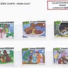 Sellos: SELLOS DE WALT DISNEY SERIE CORTA DE GRANADA GRANADINAS 1981 LA DAMA Y EL VAGABUNDO. Lote 294492583