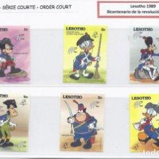 Timbres: SELLOS DE WALT DISNEY SERIE CORTA DE LESOTHO 1989 BICENTENARIO DE LA REVOLUCIÓN FRANCESA. Lote 273957418