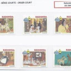 Sellos: SELLOS DE WALT DISNEY SERIE CORTA DE REDONDA 1982 101 DÁLMATAS. Lote 294492613