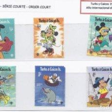 Timbres: SELLOS DE WALT DISNEY SERIE CORTA DE TURKS Y CAICOS 1979. Lote 273957298