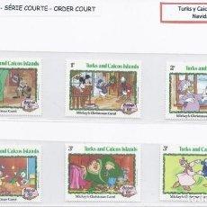 Timbres: SELLOS DE WALT DISNEY SERIE CORTA DE TURKS Y CAICOS 1982. Lote 265470459