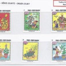 Timbres: SELLOS DE WALT DISNEY SERIE CORTA DE TURKS Y CAICOS 1983. Lote 265470529
