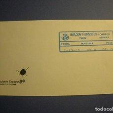 Sellos: CORREOS - SOBRE CON ETIQUETA ATMS - AVIACIÓN Y ESPACIO 89 - CADIZ.. Lote 270373918
