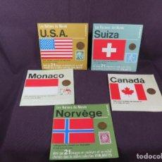 Sellos: LA COLLECTION-LES NATIONS DU MONDE (SAWYER´S) LOTE (5) SELLOS Y MONEDAS. Lote 270890253