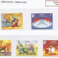 Timbres: SELLOS DE WALT DISNEY SERIE CORTA DE GRANADA 1991 FANTASIA. Lote 273957723