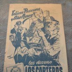 Sellos: ANTIGUO LIBRO PROMOCIONAL LOS CARTEROS LES DESEAN FELICES PASCUAS Y AÑO NUEVO 1952-53. Lote 276587488